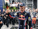 A champagne moment for Mark Webber