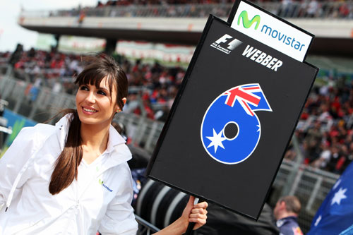 Mark Webber's grid girl