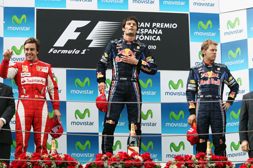 The top three on the podium