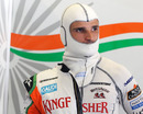 Tonio Liuzzi gets suited up ahead of the race