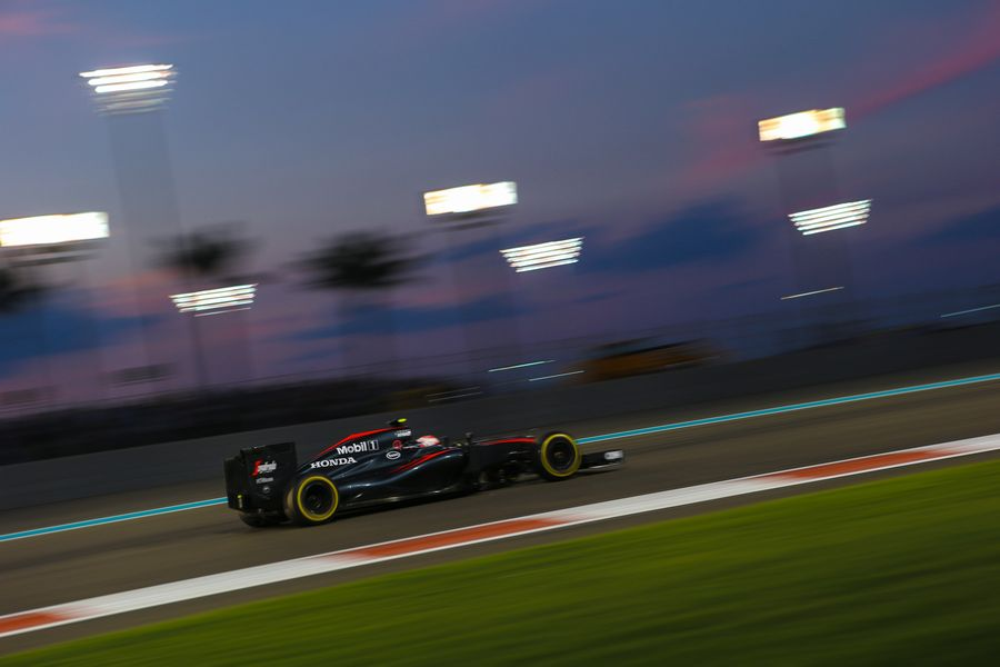 Jenson Button at speed in the McLaren
