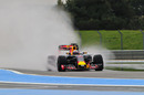 Daniel Ricciardo tops first day of wet weather testing