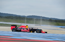 Daniel Ricciardo works on wet tyre test program for Pirelli
