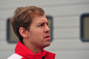 Sebastian Vettel in the paddock