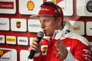 Kimi Raikkonen answers questions from media