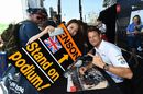 Jenson Button with fans at the autograph session