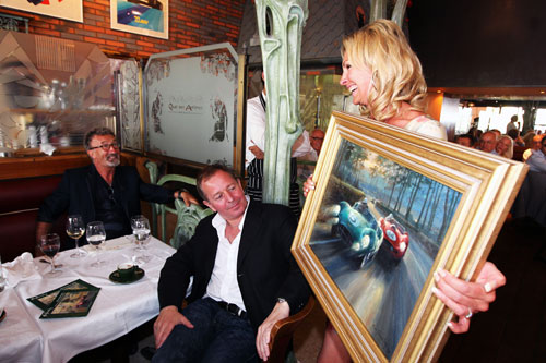 Eddie Jordan and Martin Brundle at a BRDC function in Monaco