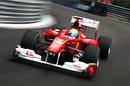 Felipe Massa accelerates out of the corner