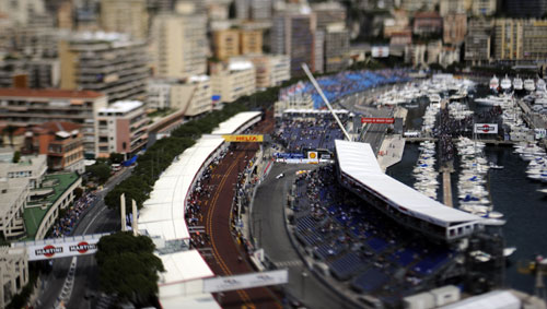 A general view of the second day in Monaco