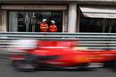 Felipe Massa flies past the shops