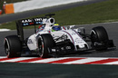 Felipe Massa on track in the Williams