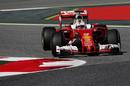 Sebastian Vettel enters a corner