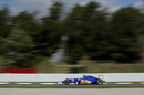 Felipe Nasr at speed in the Sauber