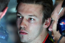 Daniil Kvyat in the Toro Rosso garage