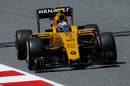 Jolyon Palme on track in the Renault