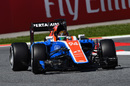 Pascal Wehrlein on track in the Manor