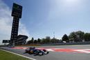 Marcus Ericsson exits the pit lane