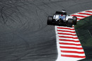 Felipe Massa rides the kerb in theWilliams