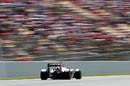 Esteban Gutierrez at speed in the Haas