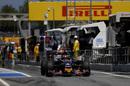 Daniil Kvyat on the pit lane in Toro Rosso