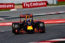 Daniel Ricciardo  at speed in the Red Bull