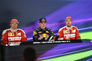 Top three drivers in the press conference after race