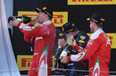 Top 3 drivers enjoy the champagne on the podium