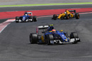 Felipe Nasr on track in the Sauber