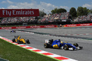Marcus Ericsson works hard on the pace