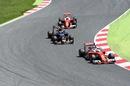 Sebastian Vettel leads Carlos Sainz