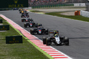 Sergio Perez leads the pack
