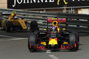 Max Verstappen on track in the Red Bull