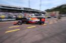 Daniel Ricciardo leaves the pit