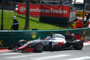 Romain Grosjean turns into the corner