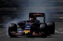 Daniil Kvyat locks up in the Toro Rosso