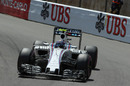 Valtteri Bottas on track in the Williams
