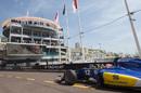 Felipe Nasr on track in the Sauber