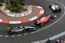 Felipe Massa leads Sebastian Vettel and Nico Hulkenberg