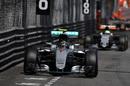 Nico Rosberg leads Nico Hulkenberg