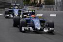 Felipe Nasr leads teammate Marcus Ericsson