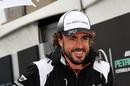 Fernando Alonso in the paddock