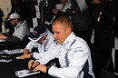 Valtteri Bottas at the autograph session