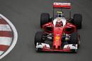 Kimi Raikkonen on track with supersoft tyres