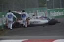 Felipe Massa hits the wall