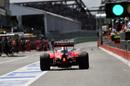 Kimi Raikkonen makes a pit stop