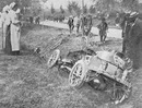 The car of Marcel Renault after the accident during the Paris-Madrid race