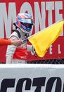 Jenson Button's race ends on the second lap