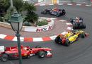 Mark Webber leads team-mate Sebastian Vettel