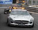Mark Webber trails the safety car