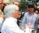 Jurassic Park, Monaco style ... Bernie Ecclestone and Mick Jagger